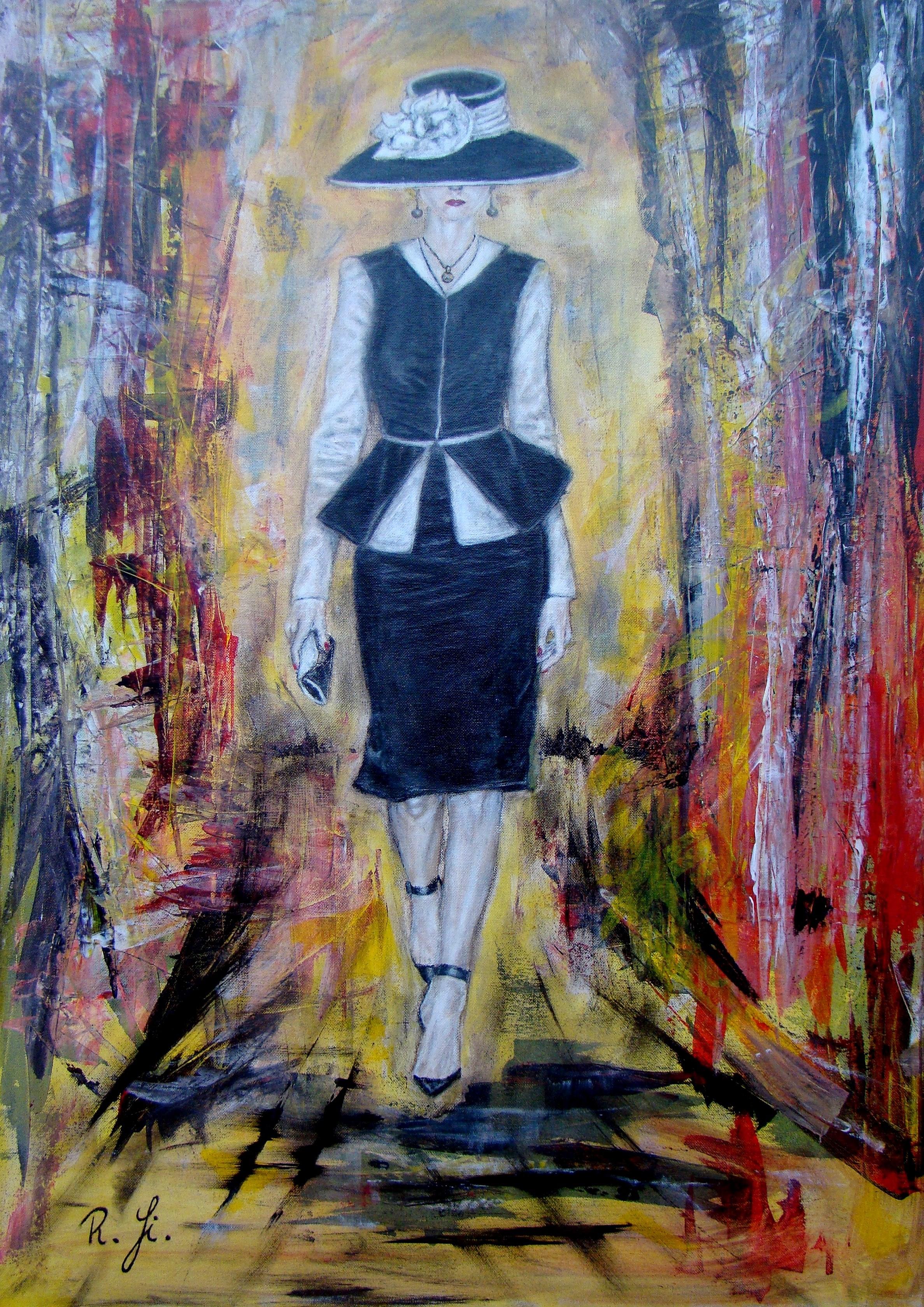 Woman-Mischtechnik-auf-Leinwand-60-x-90-cm