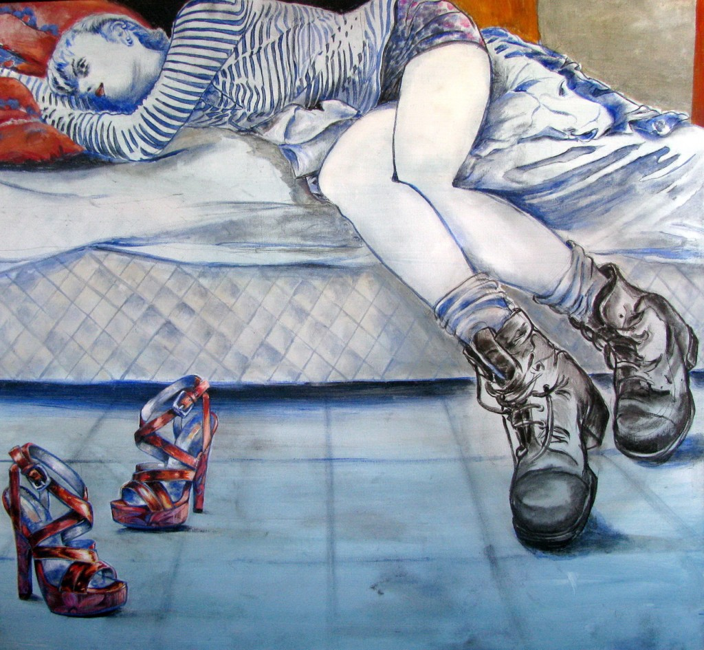 New-Shoes-80x90cm-Oil-on-canvas