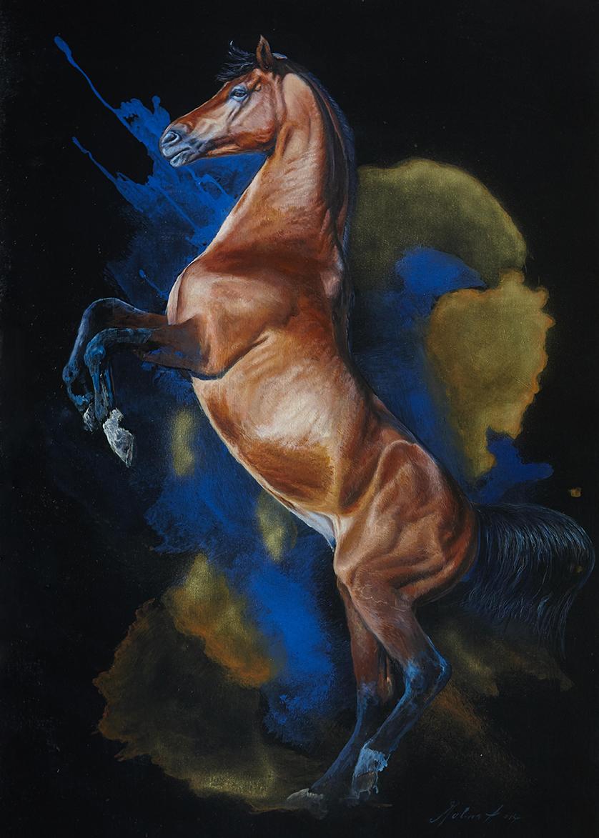 Steigendes-Pferd