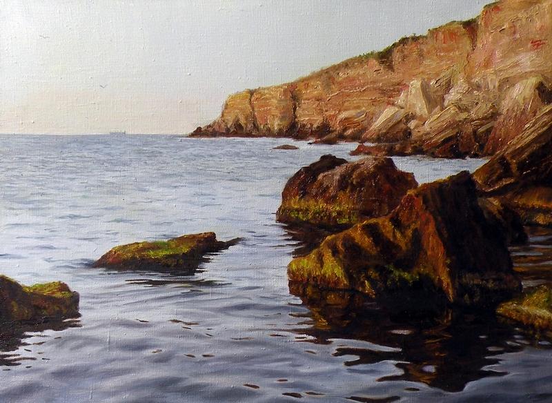 Камни в воде,х.м.,45х60,2013.JPG